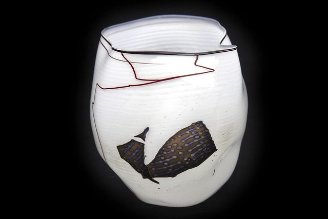 Dale Chihuly, 'Dale Chihuly  Navajo Blanket Basket 1980 Glass Sculpture Signed Best Offer', 1980, Modern Artifact
