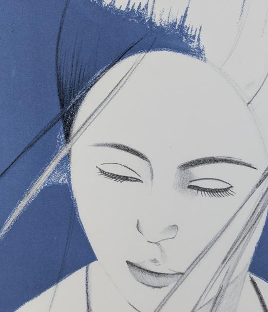 Alex Katz, 'Pamela (Blue)', 1976, Capsule Gallery Auction