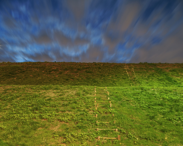 , 'Hills With Stairs,' 2016, Morgan Lehman Gallery