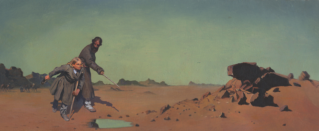 ", 'In Search of What Once Was (after: Sanford Gifford's ""The Desert at Assousan, Egypt"", 1869 and Ilya Repin's ""Procession in the Province of  Kursk"", 1881-1883),' 2014, Jonathan Ferrara Gallery"