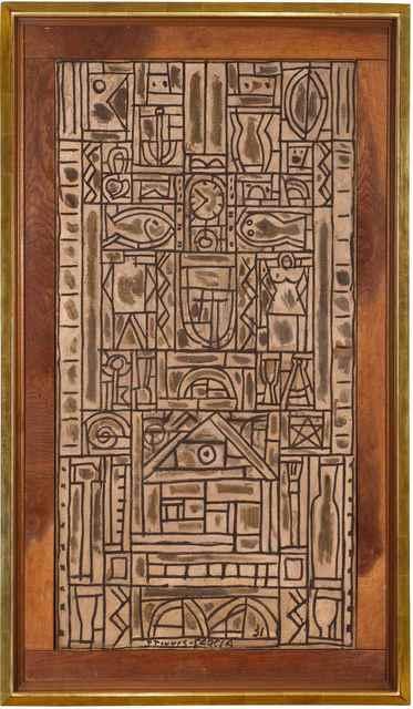 , 'Composition symétrique universelle en blanc et noir,' 1931, MALBA