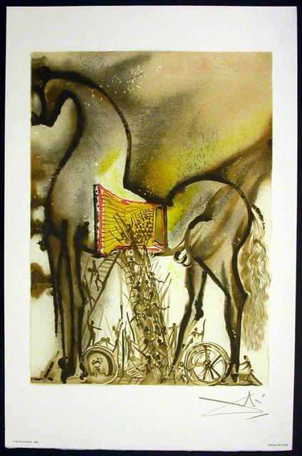 Salvador Dalí, 'Le Cheval De Troie', 1983, Print, Lithograph on vélin d'Arches paper, Samhart Gallery
