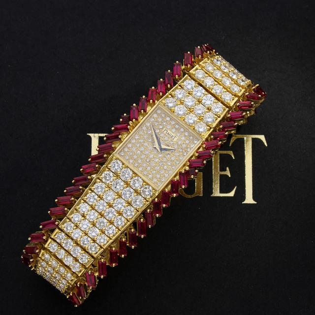 , 'Ruby and Diamond Bracelet Watch,' ca. 1970, Somlo London