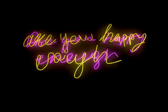 , 'AreYouHappyEnough,' 2015, AF Projects/Louise Alexander Gallery