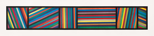 , 'Bands of Color in Different Directions, Diptych,' 1996, Pace Prints