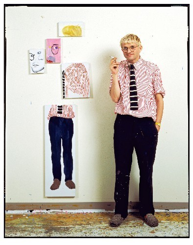, 'David Hockney In His Studio, Los Angeles,' 1984, Timothy Yarger Fine Art