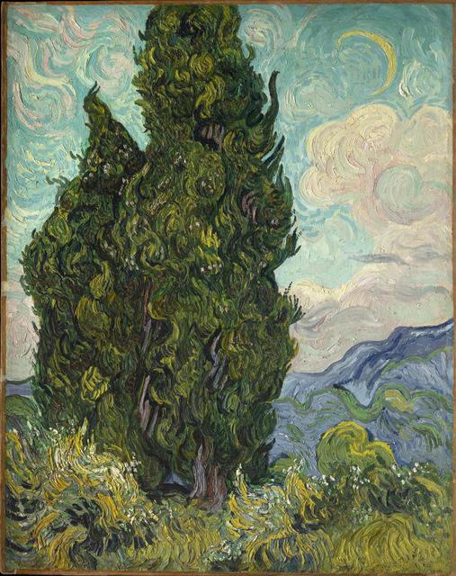 , 'Cypresses,' 1889, Clark Art Institute