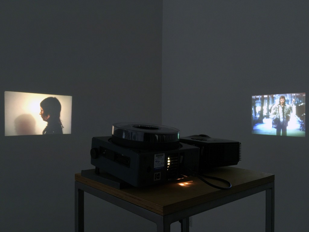 David Lamelas, Film Script, 1974. Slides, slide projector, video and DVD projector version for 2016