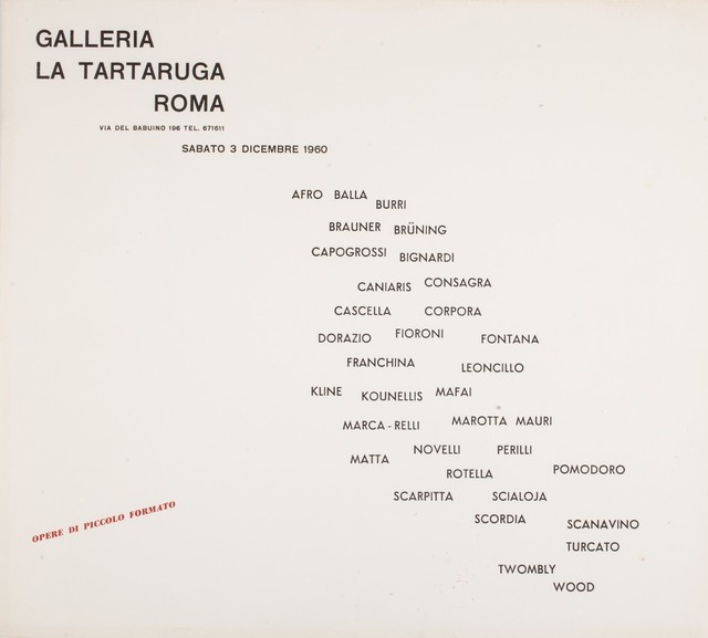 Various Artists, 'Group exhibition- Opere di piccolo formato', 1960, Finarte