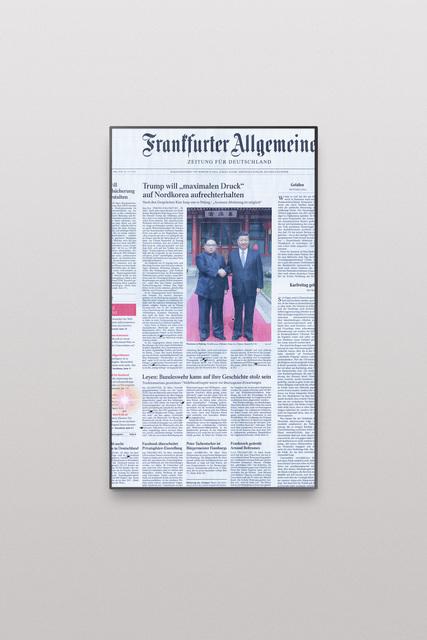 , 'Online Newspapers, Postfactual Edition, Kim,' 2018, Roehrs & Boetsch