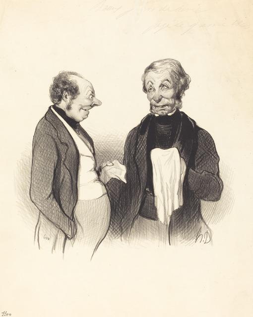Honoré Daumier, 'Une Heureuse nouvelle', 1844, National Gallery of Art, Washington, D.C.