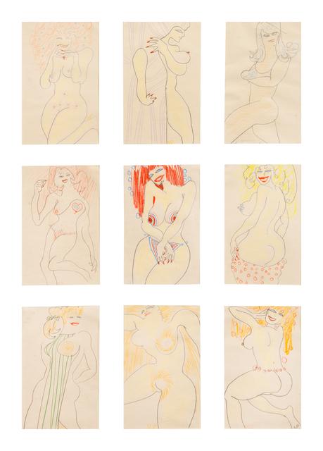 William Scharf, 'Untitled (Nine Studies of the Female Form)', Hindman