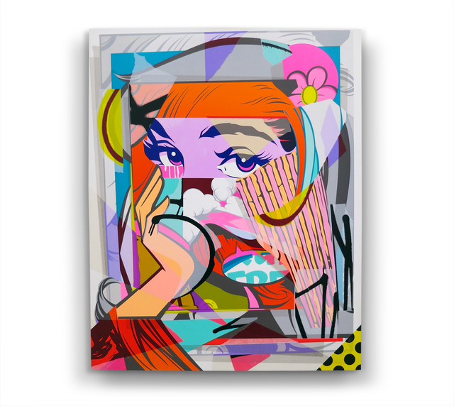 POSE, 'Mirror (HPM) ', 2016, Painting, Spray Paint, Acrylic, Paper on Claybord Panel, BEYOND THE STREETS