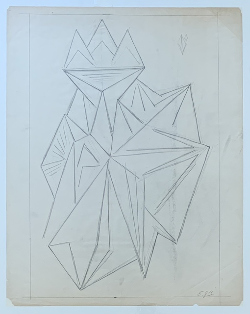 Emil Bisttram, 'Untitled', ca. 1930, Drawing, Collage or other Work on Paper, Pencil on paper, Kwiat Art