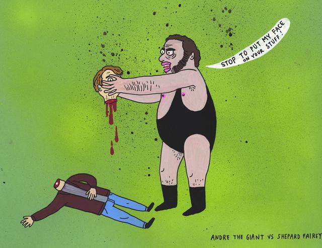 , 'Andre the giant vs Shepard Fairey ,' 2017, MARTINA