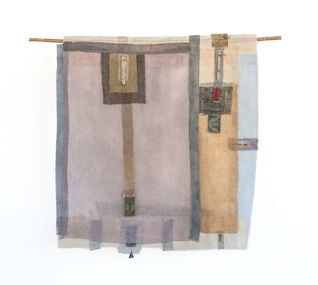 , 'Ritual cloth with inscribed reeds,' 2015, Nitra Gallery