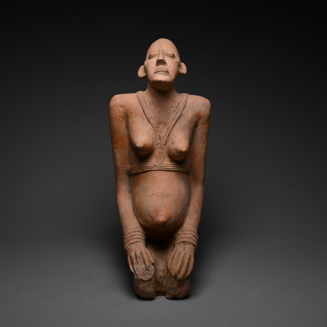 Unknown Djenné, 'Djenne Terracotta Figure of a Kneeling Female', 1200 B.C. to 1400 A.D., Barakat Gallery