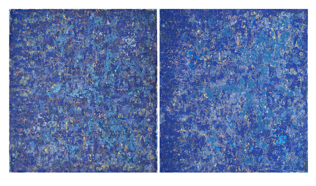 Rainer Gross, 'Beacon Twins', 2018, Painting, Oil and pigments on canvas, diptych, 2 parts, size of each part, Galerie Floss & Schultz