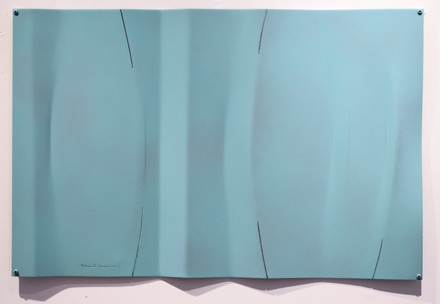 , 'Untitled alum relief painted sea green,' 2018, Studio 21 Fine Art