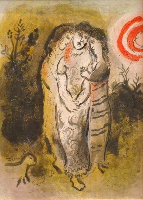 Marc Chagall, 'Naomi and her Daughters-in-Law', 1960, Wallector