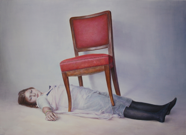 , 'Rika under the chair ,' 2014, Aki Gallery
