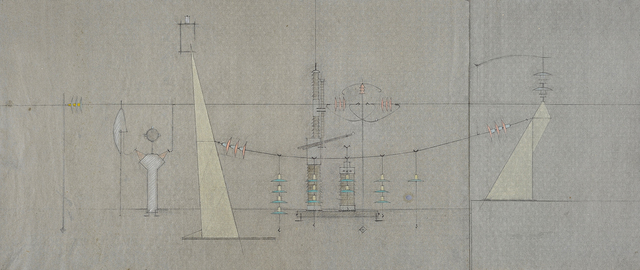 , '(Engineering drawing),' ca. 1953, Charles Nodrum Gallery