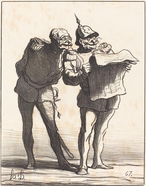 Honoré Daumier, 'Décidément on ne peut pas...', 1870, National Gallery of Art, Washington, D.C.