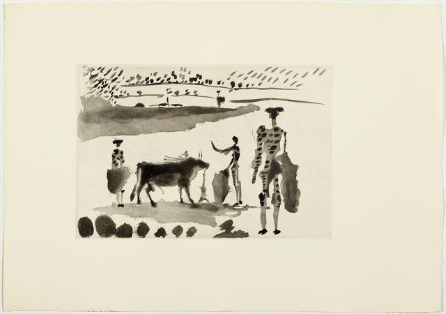 Pablo Picasso, 'Los Cabestros retiran al Toro Manso', 1957, Koller Auctions