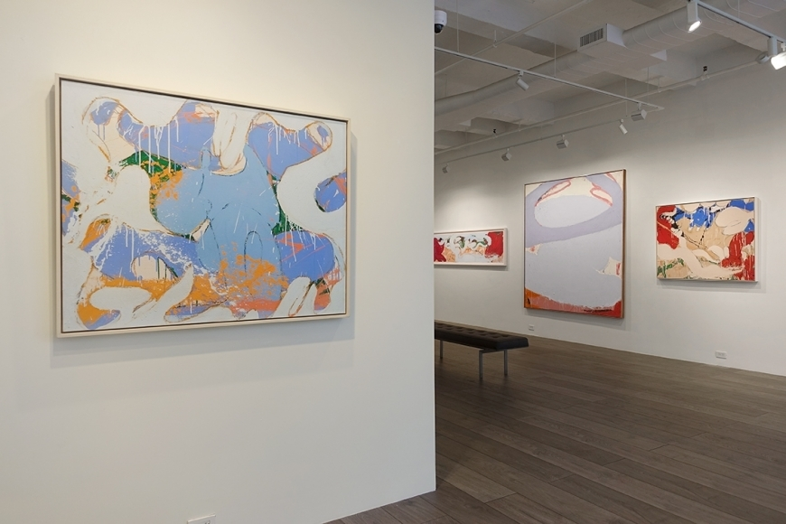 Installation view - Norman Bluhm: The '70s