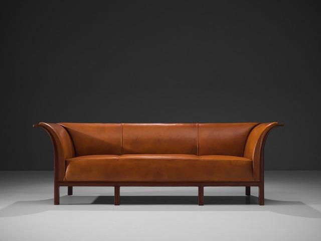 Frits Henningsen, 'Frits Henningsen Sofa in Cuban Mahogany and Cognac Leather', ca. 1930, Design/Decorative Art, Cuban mahogany and cognac leather, MORENTZ