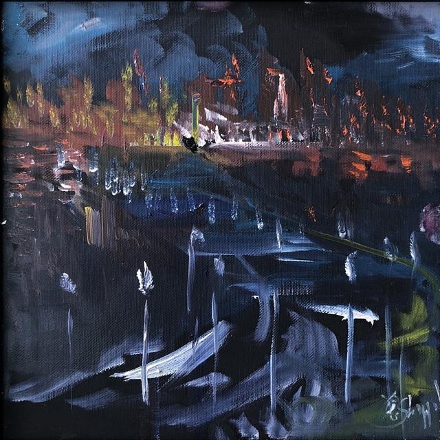 , 'Harbor by Night,' , Peninsula Gallery