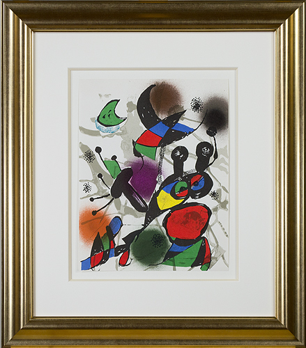 ", 'Original Lithograph II from ""Miro Lithographs III, Maeght Publisher"",' 1977, David Barnett Gallery"