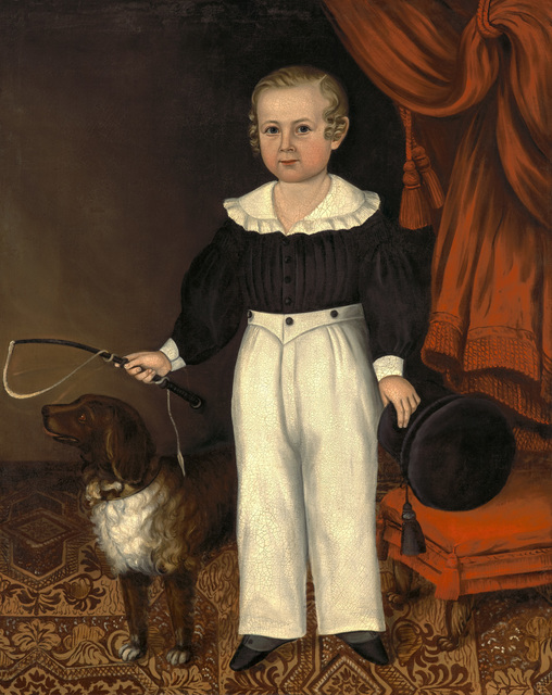 , 'Full Length Portrait of a Young Boy with His Dog,' c. 1840-45, Godel & Co.