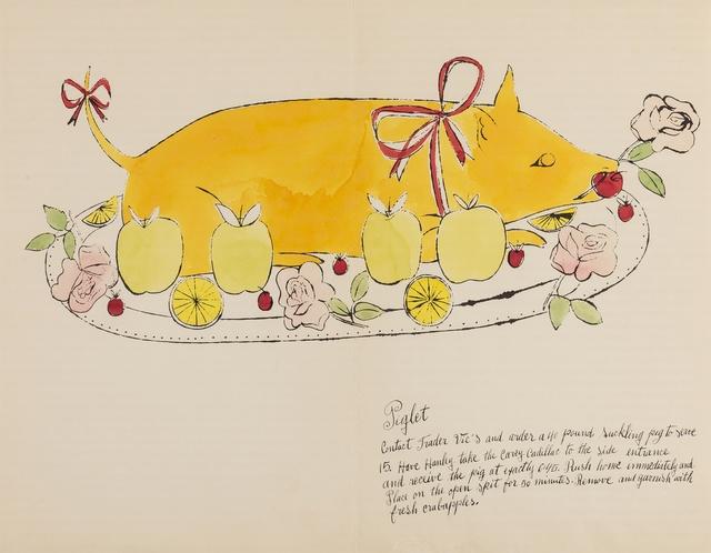 Andy Warhol, 'Piglet (from Wild Raspberries) (see Feldman & Schellmann IV.134.A)', 1959, Forum Auctions