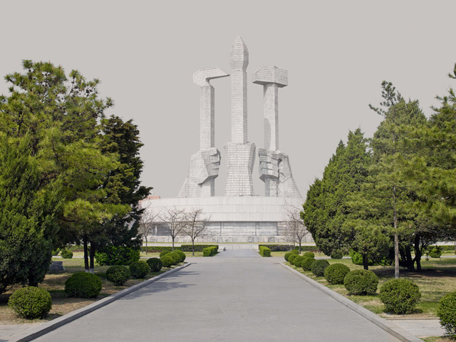 , 'Sickle, Brush and Hammer (Party Foundation Monument, Pyongyang),' 2014, The Ravestijn Gallery