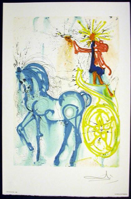 Salvador Dalí, 'Le Cheval De Triomphe', 1983, Print, Lithograph on vélin d'Arches paper, Samhart Gallery