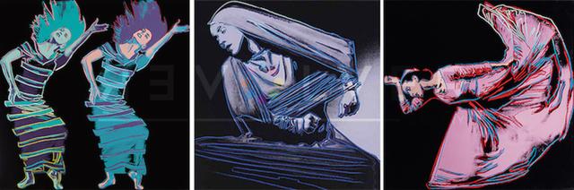 Andy Warhol, 'Martha Graham Complete Portfolio (FS II.387-389)', 1986, Print, Screenprint on Lenox Museum Board, Revolver Gallery