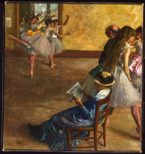 , 'The Ballet Class,' about 1860, The National Gallery, London