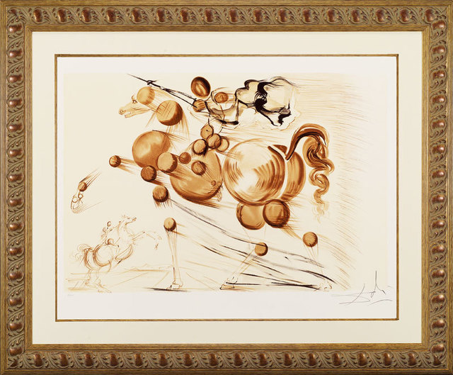 "Salvador Dalí, ' ""Spectral Horse""Hand Signed Salvador Dali Lithograph', 1941-1957, Elena Bulatova Fine Art"