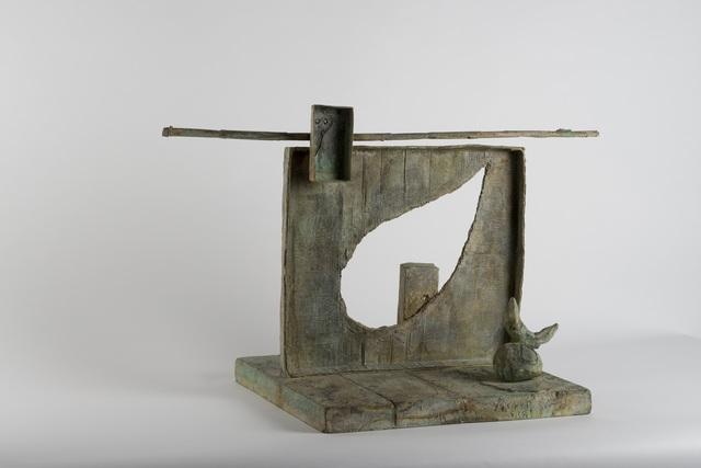 , 'Femme sur la place d'un cimitière,' 1981, DICKINSON