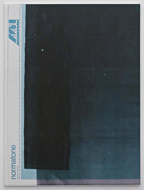 , 'E.H.D (Mecanorma, green #02),' 2015, Johannes Vogt Gallery