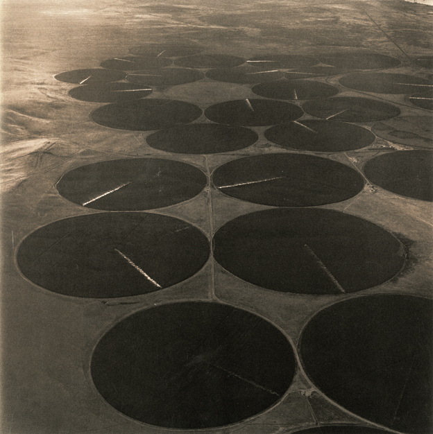 Emmet Gowin, 'Pivot Irrigation, Near the One Hundred Circle Farm and the McNary Dam on the Columbia River, Washington', 1991, Marc Selwyn Fine Art