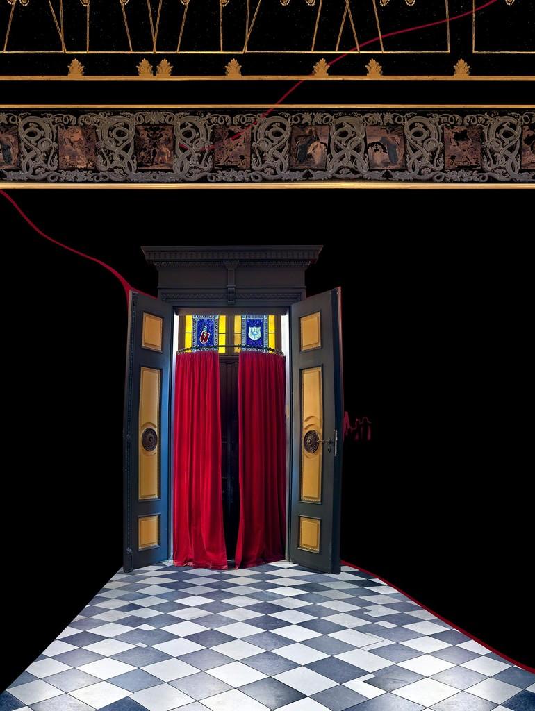 "Raissa Venables, ""Villa Wahnfried Entrance"", C-print on Dibond, 40"" x 30"""