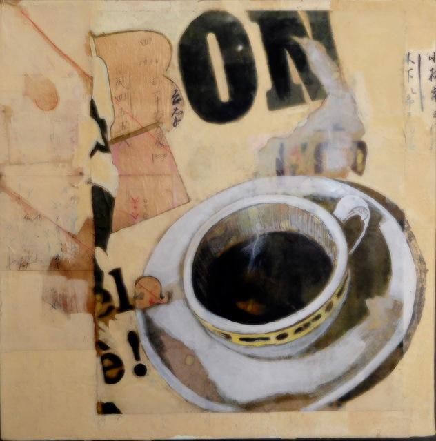 Christina Penrose, 'Bon Cafe ', 2018, Painting, Gouach on canvas, InLiquid