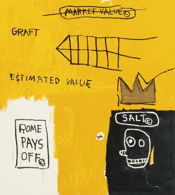 Jean-Michel Basquiat, 'Rome pays off', 1982, Kunzt Gallery