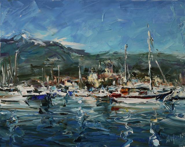 Lyudmila Agrich, 'Busy Harbor', 2018, Mirada Fine Art