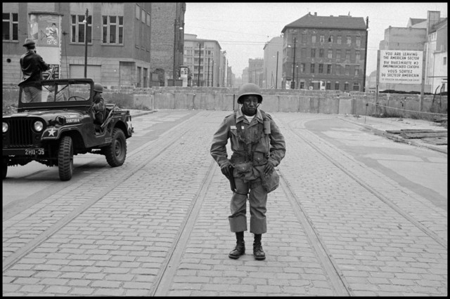 , 'American Soldiers Stand Guard as the Berlin Wall is Put Up,' 1961, Cantor Fitzgerald Gallery, Haverford College