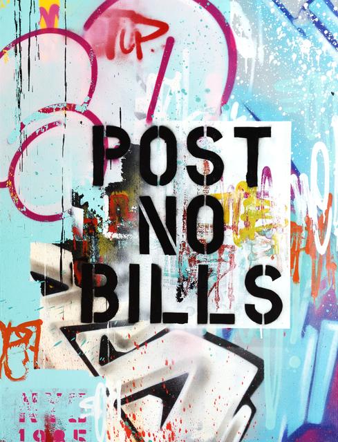 , 'POST NO BILLS BLUE,' 2017, StolenSpace Gallery