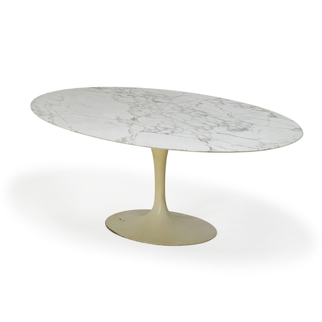 Eero Saarinen, 'Oval Top Tulip Dining Table, New York', 1960s, Rago/Wright