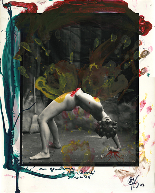 , 'Nude gymnast, masked, overpaimted, plus a Polaroid,' 2004, Be-hold